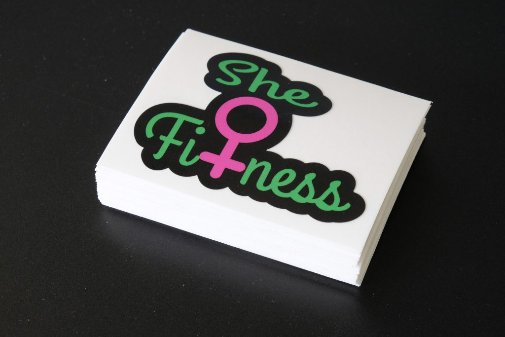Stack Of Stickers For She Fitness