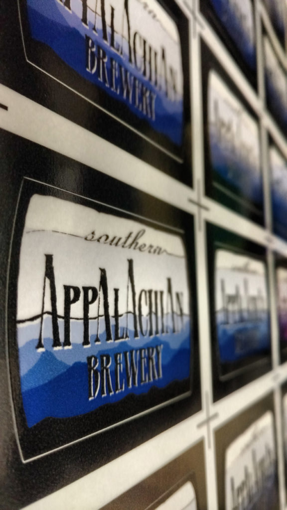 Tap Handle Labels For Southern Appalachian Brewery